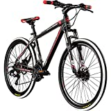 Galano 27,5 Zoll 650B MTB Toxic Mountainbike Scheibenbremsen (schwarz/rot, 51 cm)