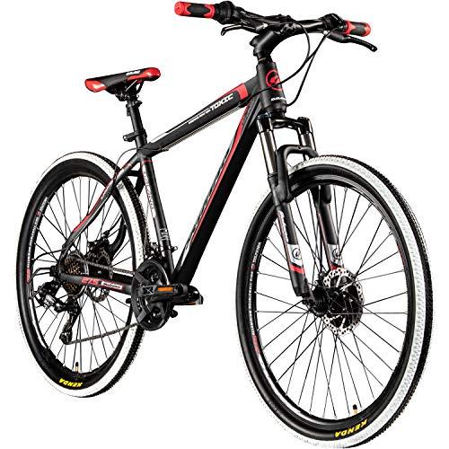Galano 27,5 Zoll 650B MTB Toxic Mountainbike Scheibenbremsen (schwarz/rot, 46 cm)