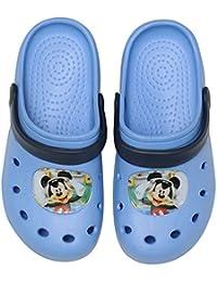Stamion Disney Mickey Mouse Zuecos/zapatillas en color azul claro, diferentes tamaños
