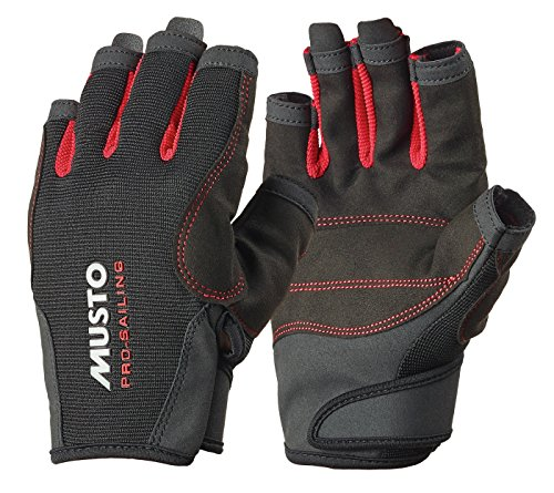 Musto Essential Sailing Short Finger Gloves BLACK AS0813 Sizes- - Large