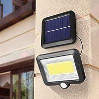 Mobestech Outdoor Solar Lights Split Solar Panel Wall Lights Body Sensing Waterproof Security Lights for Yard Porch Patio Garden Garages Driveway