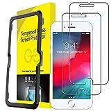 JETech Protector de Pantalla para iPhone 8 Plus, iPhone 7 Plus, iPhone 6s Plus, iPhone 6 Plus, Vidrio Templado, con Herramienta de Fácil Instalación, 2 Unidades