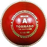 MCM cm Tornado F50Supreme–Grade A Cricketball, Weiß