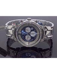 AQUA MASTER - Reloj de pulsera hombre, acero inoxidable, color blanco
