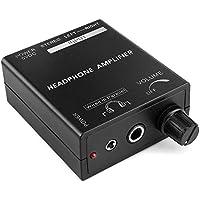 TNP - Amplificador portátil para auriculares estéreo con amplificador de control de volumen y amplificador de audio con entrada RCA de 3,5mm y 6,3mm de salida y interruptor de alimentación