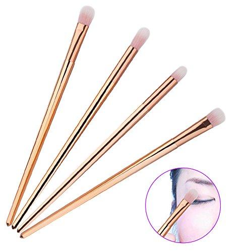 Hrph 4pcs Pinceaux Maquillage Pinceaux Ombre à Paupières Poudre Foundation Outil de Cosmetique
