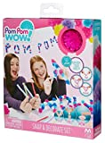 Pom Pom your world with Pom Pom Wow!;Create unique, fun messages with letters you snap together!;The Snap and Decorate Set comes with 18 plastic letter snaps in 4 colors, 50 pom poms in 5 colors, 1 roll of yarn, 3 decorative cards, and 60 adhesive do...