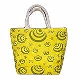 #8: Kids Mandi™ 100% Jute Eco Friendly Printed Medium Size Fashion Shopping Bag
