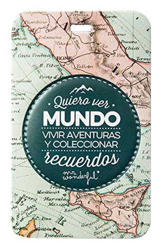 Mr.Wonderful WOA02947 Etiqueta para Equipaje Quiero Ver Mundo, Multico