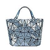Raindrop Borse per donna Diamond Tote Bolsa Feminina geometria Borsa a Tracolla donne borsette di piegatura Blue 36cmx12cmx26cm