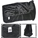Comfy German Mink Fabric Soft And Beautiful Black Dog/Cat Blanket-L (38X42 In)