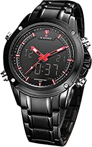 Wrath Charming Black Red Luxury Men's Watch with Free Bracelet for Men & Boys(NF9050).