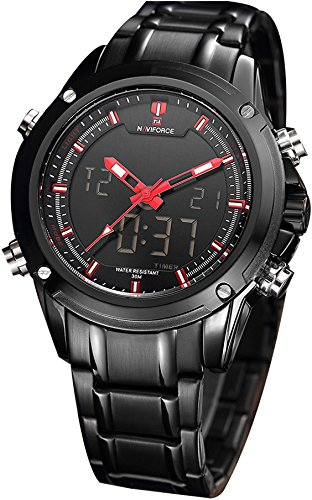 Naviforce Charming Black Red Luxury Men's Watch(NF9050)