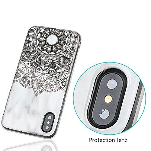 xhorizon Couvercle Housse en TPU Souple Flexible Marbre Pierre Motif Séries Protéger Contre Rayure Doigt Léger Convenable pour iPhone X / iPhone 10 #6
