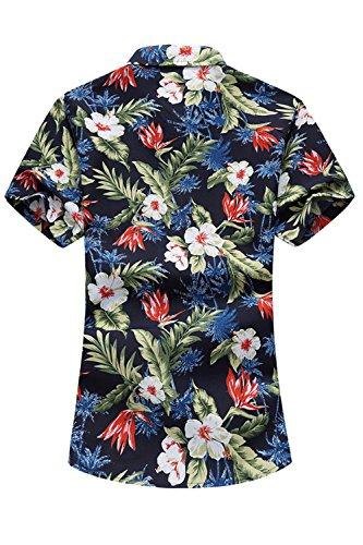 wholesale dealer 02f15 d532f YACUN Gli Uomo Sono Camicie Hawaiane Camicia A Maniche Corte Casuale al  Massimo Florenavy L