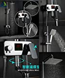 Best Shower Panels - Sanikart Digital Display Rainfall Shower Faucet, In-wall Rotation Review