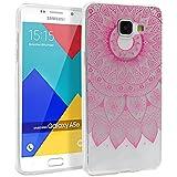 Coque pour Samsung Galaxy A5 2016, Mifine Ultra Mince Transparent [Souple et Flexible, Absorption des Chocs, Anti-rayures] TPU Silicone Soft Etui Housse Case (No.2-Rose)
