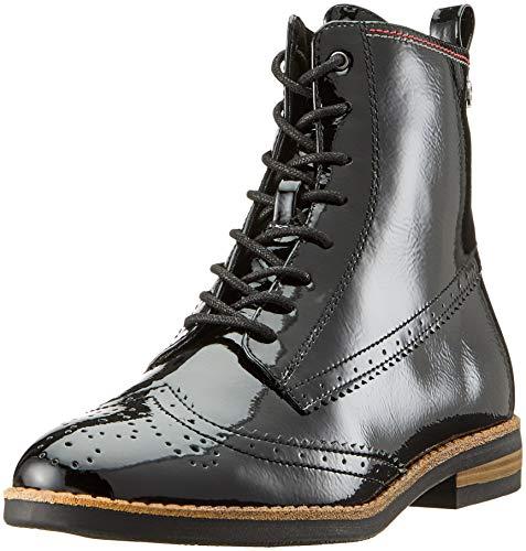 Tamaris Damen 25119-21 Combat Boots, Schwarz (Black Patent 18), 39 EU