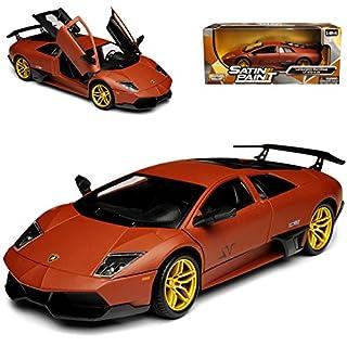 alles-meine.de GmbH Lamborghini Murcielago LP 670-4 SV Matt Braun 2001-2010 1/24 Motormax Modell Auto