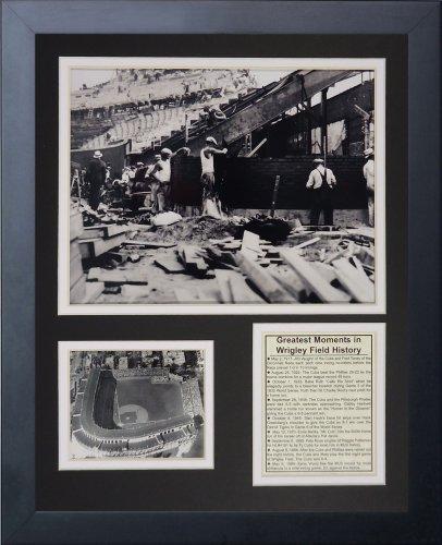 Legends Never Die Wrigley Field Construction Fotocollage, gerahmt, 28 x 36 cm