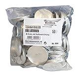 folia 999 - Teelichthalter, 50 Stück, silber
