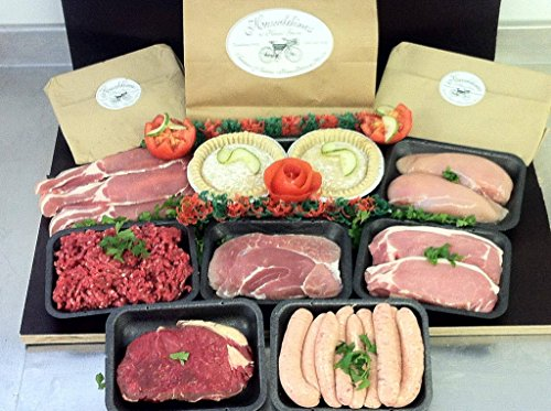 Traditional Meat Pack for Week Sausage Bacon Steak Minced Beef Pork Chicken