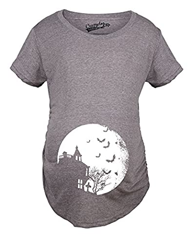 Maman Fils Halloween - Crazy Dog TShirts - Maternity Bats Over