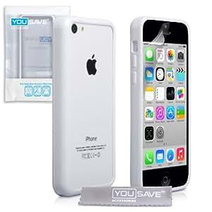 yousave accessories ap ga02 z075 coque en silicone pour iphone 5c blanc high tech. Black Bedroom Furniture Sets. Home Design Ideas