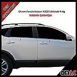 Qashqai J10 / NJ10 Chrom Fensterleisten 4-tlg aus Edelstahl V2A