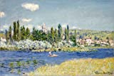 Cuadro sobre lienzo 120 x 80 cm: Vetheuil de Claude Monet / Bridgeman Images - cuadro terminado, cuadro sobre bastidor, lámina terminada sobre lienzo auténtico, impresión en lienzo