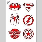 Superheld Emblem Logos Schablone - Karton - A3 42 x 29,7cm - Batman Logo Breite 12cm - wiederverwendbare kinderfreundliche Schablone für Malerei, Handwerk, Wände und Möbel