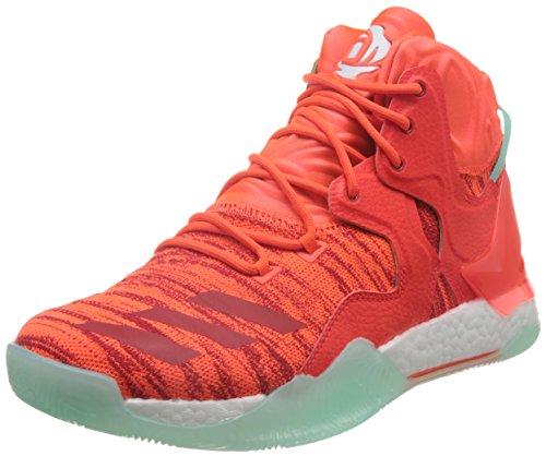 adidas Herren D Rose 7 Primeknit Basket, Multicolore (Solred/Ftwwht/Icegrn), 44 EU