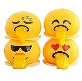 Prise Druck Dekompression Spielzeug langsam Rebound PU Extrusion Spielzeug, Malloom Neuheit Gag Toys Spucke Eigelb Emoji Ei Streich Squeeze Stressabbau Geschenke …