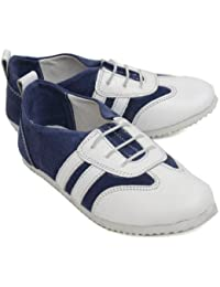 Willy Winkies - Blue & White Color Genuine Leather Shoes-106