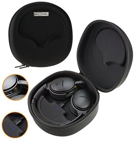 Navitech Broonel Noir Etui Housse Rigide De Rangement Compatible avec Casque Headphone et 2500mAh Power Bank Chargeur Compatible avecPioneer Se-MHR5