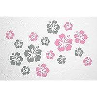 WANDfee® Wandtattoo 16 Hibiskus Blüten AC1112019 Größe Ø 7 15 Cm, 2 X