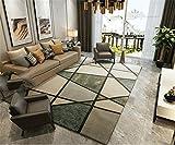 Moderner minimalistischer Dicker Teppich Europäischer Studienraum Wohnzimmer Couchtisch Schlafzimmer Bett Vorderseite Gestreifte Teppiche (dunkelgrün) 80 * 120cm