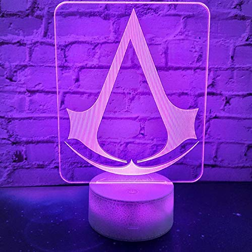 Assassin'S Creed Lights Night Lights Regalos para niños Decoración de Dormitorio Cambio...