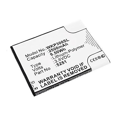 subtel® Batterie premium pour Wiko Pulp / Pulp 4G / Robby (2500mAh) 5251 Batterie de recharge, Accu remplacement