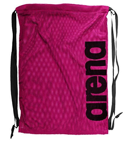arena Unisex 2-in-1 Netztasche Rucksack Mesh Bag (Schnelltrocknend, Kordelverschluss), Fuchsia (59), One Size (Schwimmen-kurze Tasche)