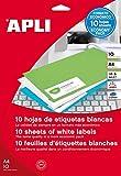 APLI 12925 - Etiquetas blancas imprimibles