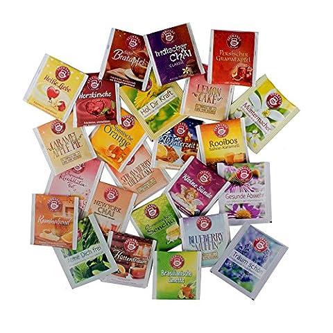 Adventskalender Füllung Set mit 24 Teesorten (Beutel) zum Befüllen (Inhalt wahlweise mit 3, 6, 12 oder 24 Stück)