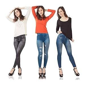ProBache - Jegging lot X3 L/XL legging imitation jean gainant femme