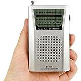 gaddrt Mini AM FM Radio MultiMedia altavoz portátil bolsillo novedad receptor de radio, 3,5mm Jack de auriculares
