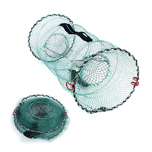 YEARGER Portable Fischernetz Angelgeräte Mesh Cage Faltbare Fischernetz Fur Fisch, Lachs, Krebse, Krabben -