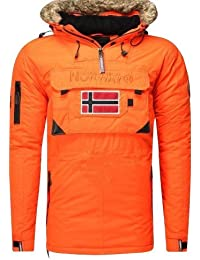 Geographical Norway-Ropa de invierno-Cazadora bronson boy, color naranja