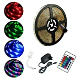 ALED LIGHT® Multicolor Tira de Luz LED Impermeable LED Strip RGB 5M(16.4 ft) 3528 SMD 300 LE...