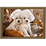 Puppies Bean Bag Lap Tray Exclusive Designs Student Tv Dinner Food Breakfast Bed Unique