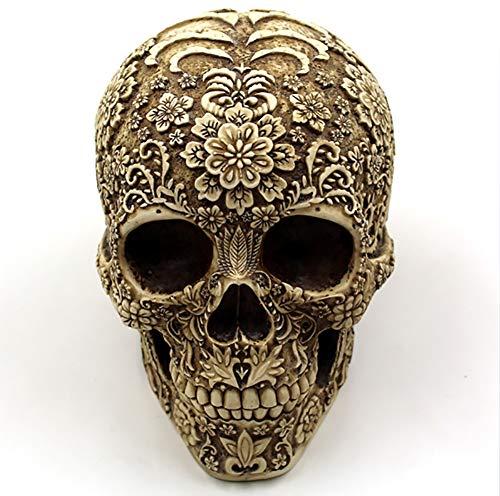 ion Halloween-Dekoration Realistische Resin Human Skull Pattern ()