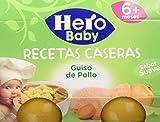 Hero Baby - Potito Babyrecetas Guiso Pollo Hero 6m+ - Pack de 6 (Total: 2x6, 2280 gr)